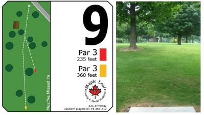 Mary Rutan, Main course, Hole 9 Long tee pad