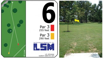 Mary Rutan, Main course, Hole 6 Long tee pad