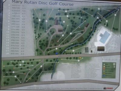Mary Rutan, Main course, Hole 1 Hole sign