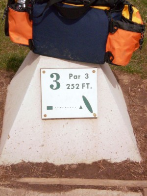 Carter Park, Main course, Hole 3 Hole sign