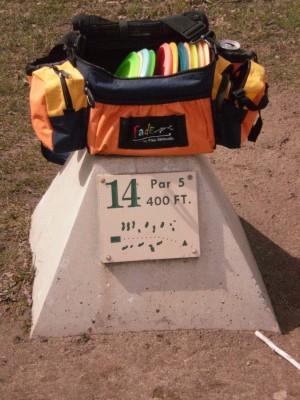 Carter Park, Main course, Hole 14 Hole sign