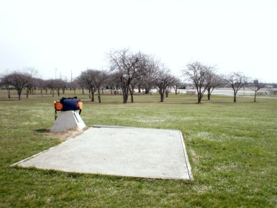 Carter Park, Main course, Hole 15 Tee pad