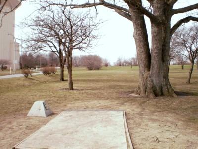 Carter Park, Main course, Hole 16 Tee pad