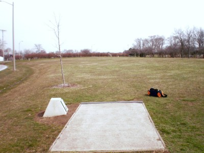 Carter Park, Main course, Hole 2 Tee pad