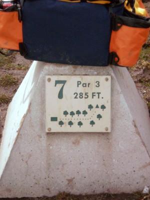 Carter Park, Main course, Hole 7 Hole sign