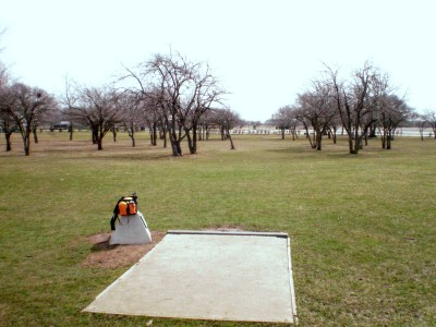 Carter Park, Main course, Hole 13 Tee pad