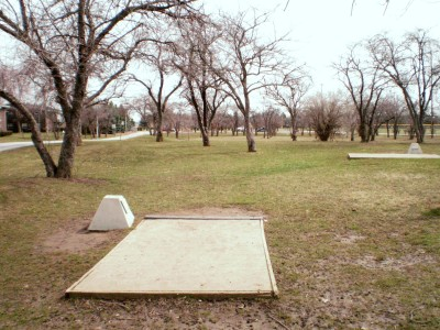 Carter Park, Main course, Hole 6 Tee pad