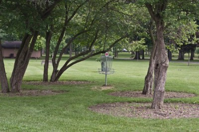 Recreation Park, Main course, Hole 15 Short tee pad