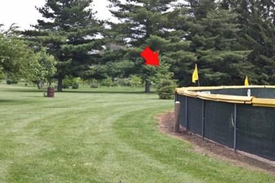 Recreation Park, Main course, Hole 10 Short tee pad