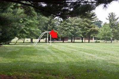 Recreation Park, Main course, Hole 8 Short tee pad