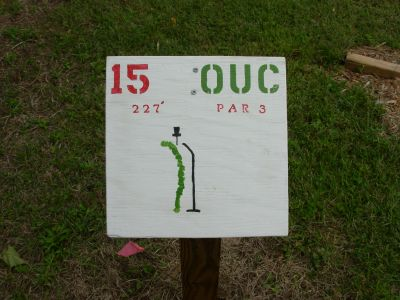 Ohio University-Chillicothe, Main course, Hole 15 Hole sign