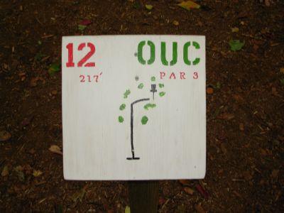 Ohio University-Chillicothe, Main course, Hole 12 Hole sign