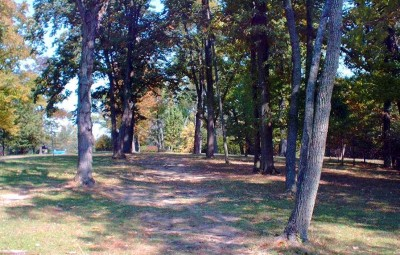 Mt. Airy Forest, Main course, Hole 9 Tee pad