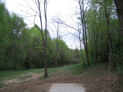 Rolling Hills County Park, Main course, Hole 10 Short tee pad