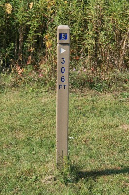Rolling Hills County Park, Main course, Hole 5 Hole sign
