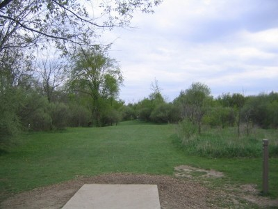 Rolling Hills County Park, Main course, Hole 2 Tee pad