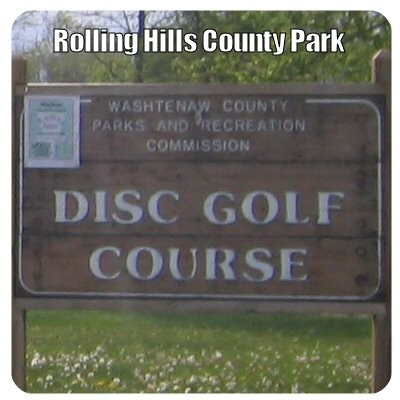 Rolling Hills County Park, Main course, Hole 1 Hole sign
