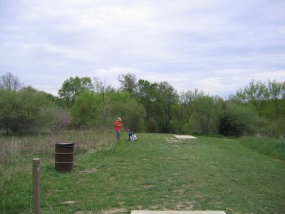 Rolling Hills County Park, Main course, Hole 6 Long tee pad