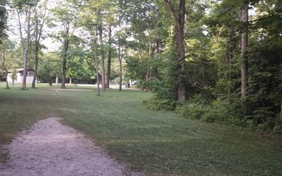 Winton Woods, Main course, Hole 9 Tee pad