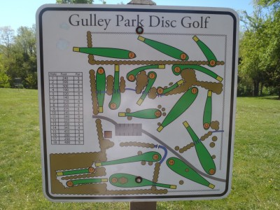 Gulley Park, Main course, Hole 1 Hole sign