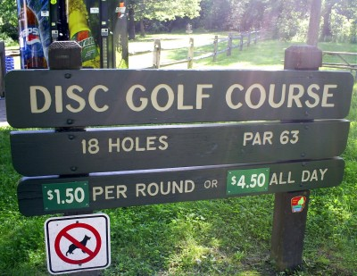 Blendon Woods, Main course, Hole 1 Hole sign