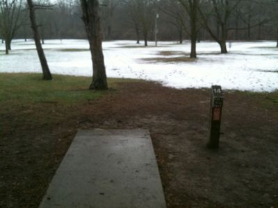 Griggs Reservoir Park, Main course, Hole 14 Tee pad