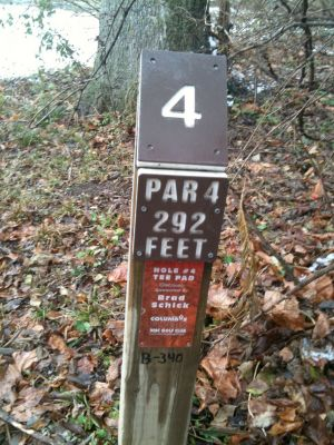 Griggs Reservoir Park, Main course, Hole 4 Hole sign