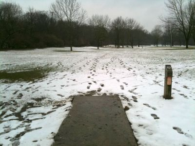 Griggs Reservoir Park, Main course, Hole 12 Tee pad