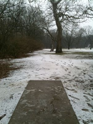 Griggs Reservoir Park, Main course, Hole 8 Long tee pad