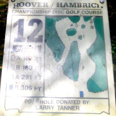 Brent Hambrick Memorial, Main course, Hole 12 Hole sign
