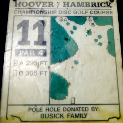 Brent Hambrick Memorial, Main course, Hole 11 Hole sign