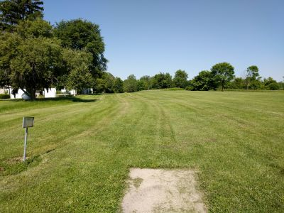 Arthur O. Fisher Park, Main course, Hole 6 Tee pad
