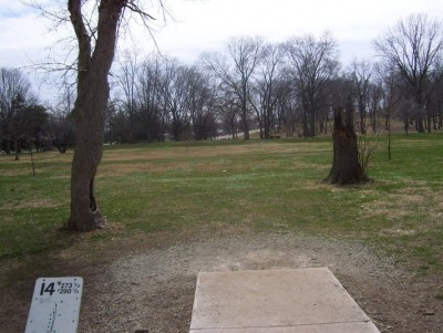 Belmont Park, Main course, Hole 14 Tee pad