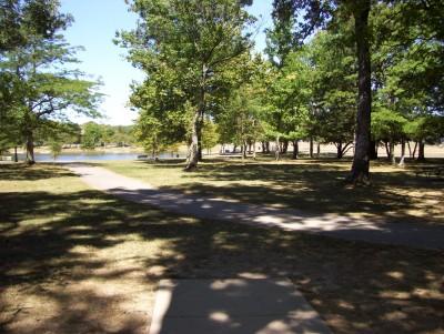 Indian Riffle Park, Main course, Hole 5 Tee pad