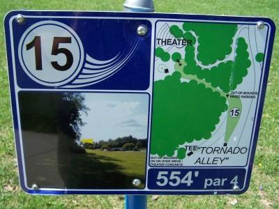 Deis Hill Park, Main course, Hole 15 Hole sign