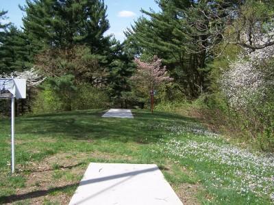 Deis Hill Park, Main course, Hole 2 Middle tee pad