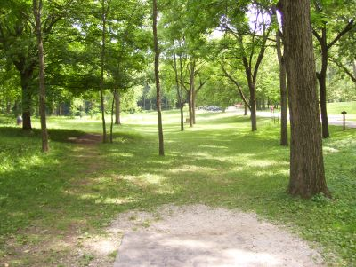 Englewood Metro Park, Main course, Hole 12 Tee pad