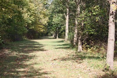 Riverbend Disc Golf Trail, Main course, Hole 13 Short tee pad