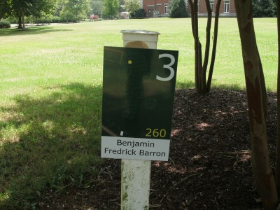 Athens State University, Main course, Hole 3 Hole sign