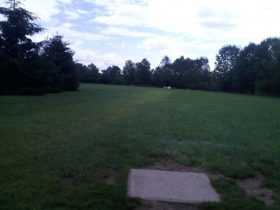 Hudson Springs Park, Main course, Hole 8 Tee pad