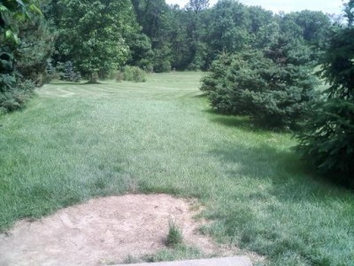 Hudson Springs Park, Main course, Hole 12 Tee pad