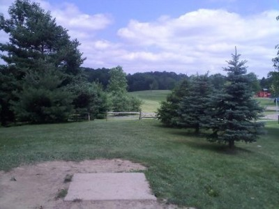 Hudson Springs Park, Main course, Hole 10 Tee pad