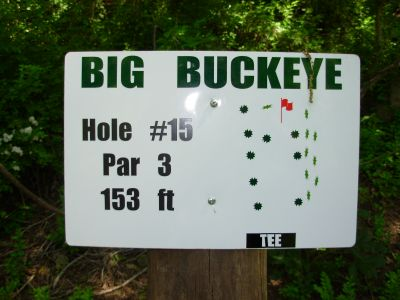 Big Buckeye at Broughton, Main course, Hole 15 Hole sign