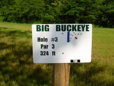 Big Buckeye at Broughton, Main course, Hole 3 Hole sign