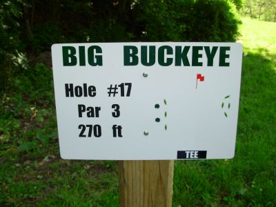 Big Buckeye at Broughton, Main course, Hole 17 Hole sign