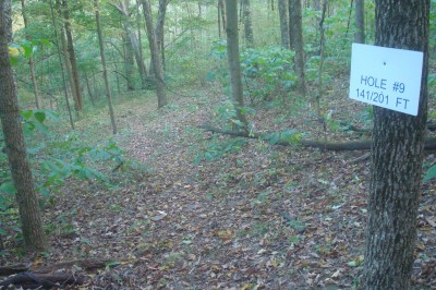 Big Buckeye at Broughton, Main course, Hole U9 Hole sign