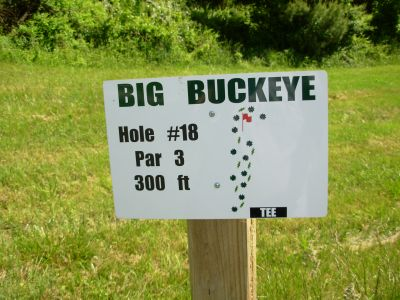 Big Buckeye at Broughton, Main course, Hole 18 Hole sign
