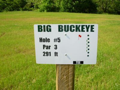 Big Buckeye at Broughton, Main course, Hole 5 Hole sign
