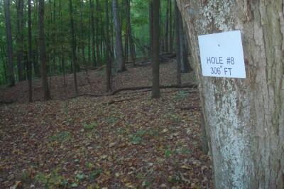 Big Buckeye at Broughton, Main course, Hole U8 Hole sign