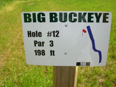Big Buckeye at Broughton, Main course, Hole 12 Hole sign